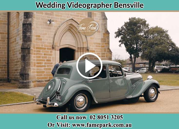 Bridal car at the church Bensville NSW 2251