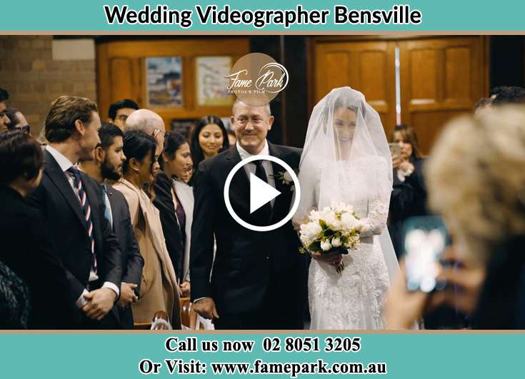 Bride and her father walking at the aisle Bensville NSW 2251