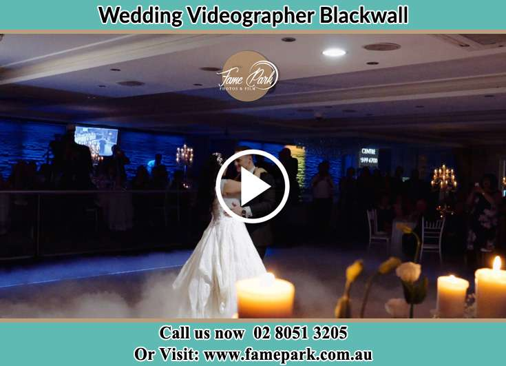 Bride and Groom at the dance floor Blackwall NSW 2256