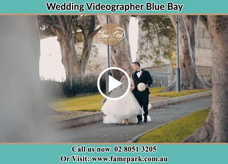 Bride and Groom looking at each other at the park Blue Bay NSW 2261