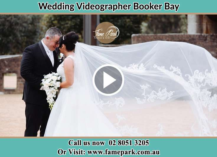 Bride and Groom looking at each other Booker Bay NSW 2257