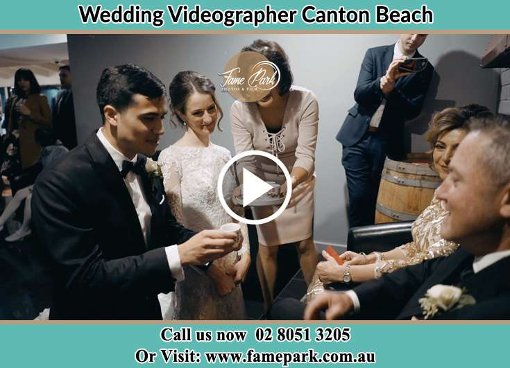 Bride and Groom during the event in the reception Canton Beach NSW 2263