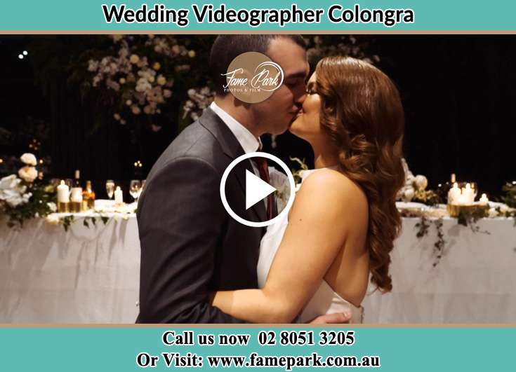 Bride and Groom kissed at the reception Colongra NSW 2262
