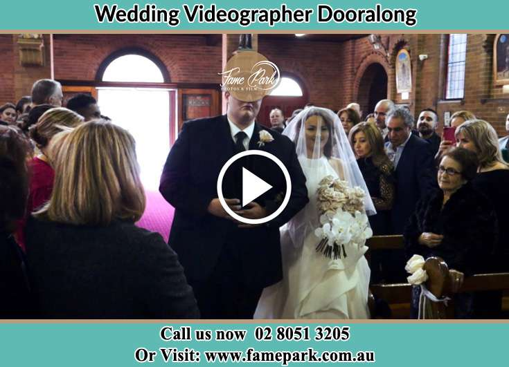 Bride and Groom walking in the aisle Dooralong NSW 2259