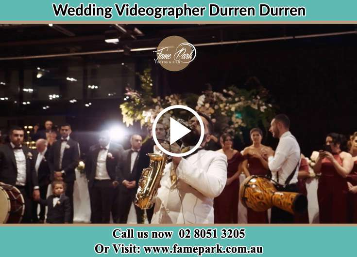 Playing live music at the reception Durren Durren NSW 2259