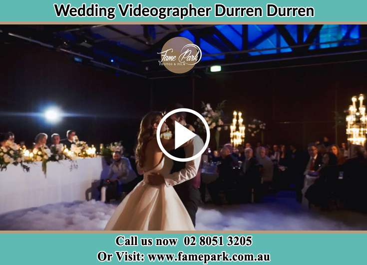 Bride and Groom kissed while dancing Durren Durren NSW 2259