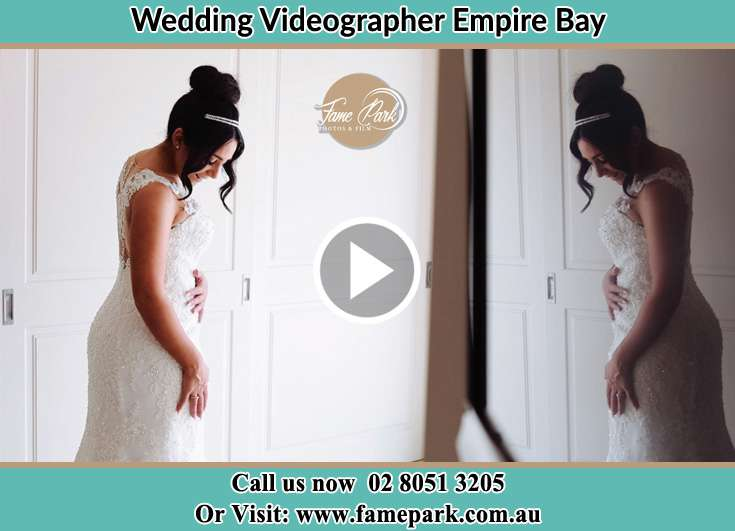 Bride already prepared while at the mirrorwith her secondary sponsors Empire Bay NSW 2257
