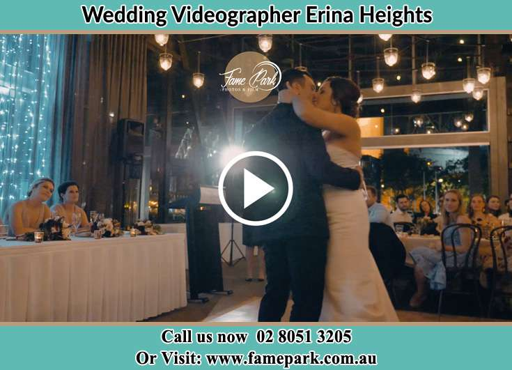Bride and Groom kissed at the dance floor Erina Heights NSW 2260