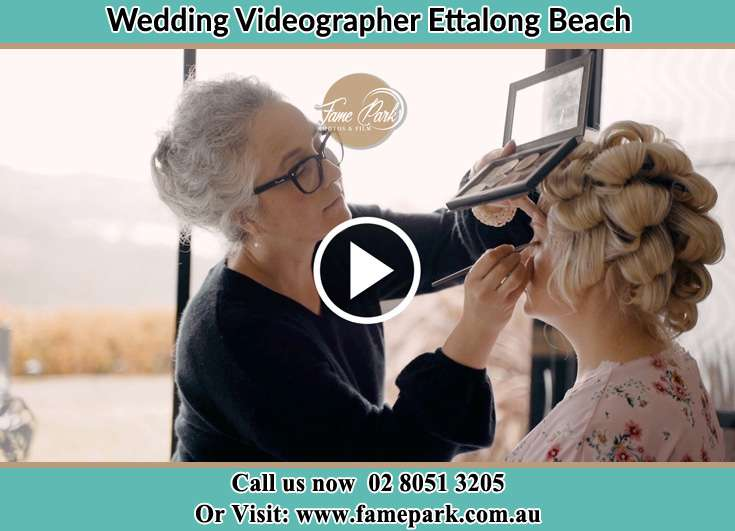 Bride getting her make up done Ettalong Beach NSW 2257