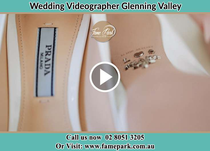 Bride's wedding shoes Glenning Valley NSW 2261