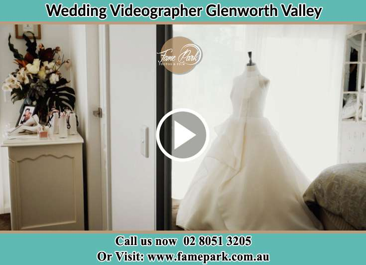 Bride's wedding gown Glenning Valley NSW 2261
