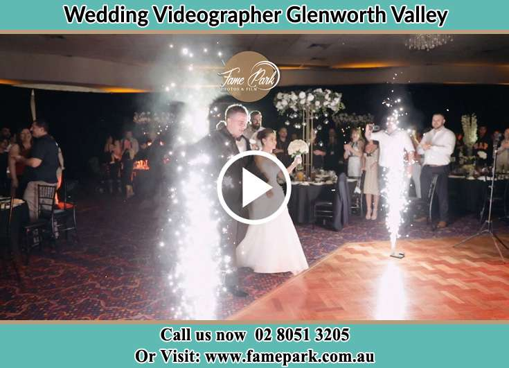 Bride and Groom walking at the reception Glenning Valley NSW 2261