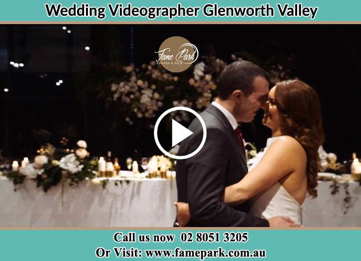 Bride and Groom looking at each other in the dance floor Glenning Valley NSW 2261