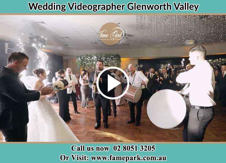 Bride and Groom watching the live band performance Glenning Valley NSW 2261