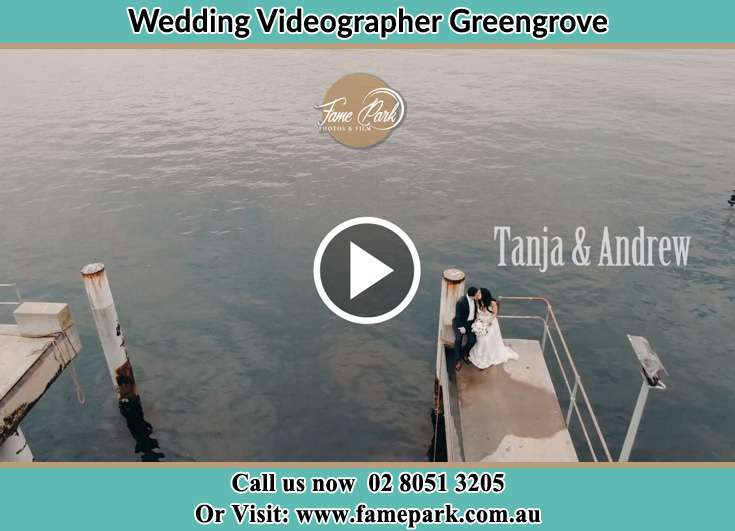 Bride and Groom kissed at the shore Greengrove NSW 2250