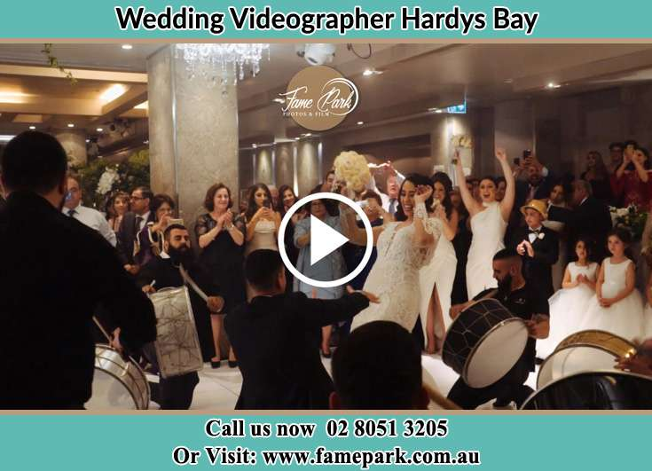 Bride and Groom at the dance floor Hardys Bay NSW 2257