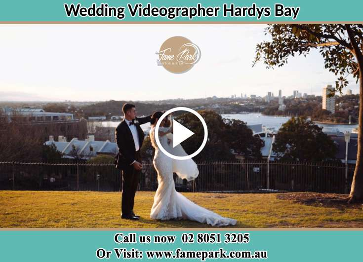 Bride and Groom at the hill Hardys Bay NSW 2257