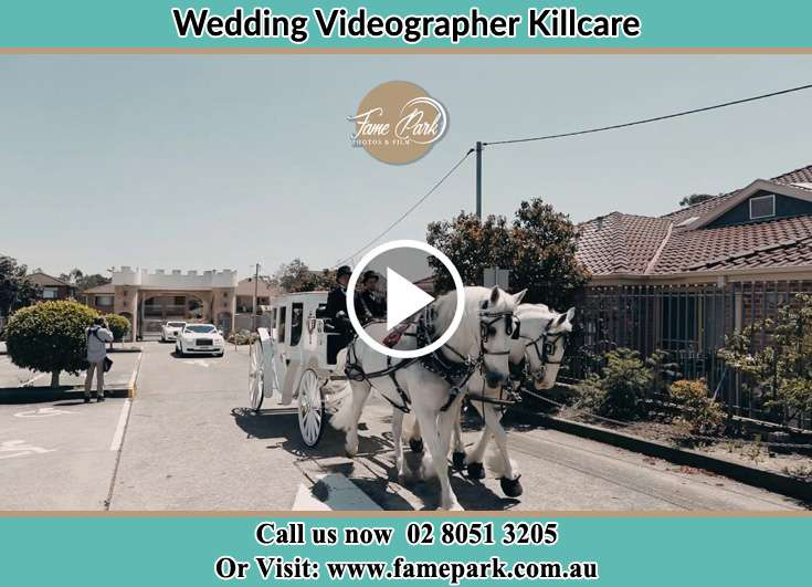 Bride and Groom wedding carriage Killcare NSW 2257