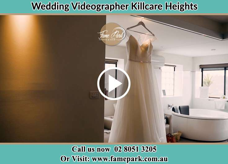 The bride's wedding gown Killcare Heights NSW 2257