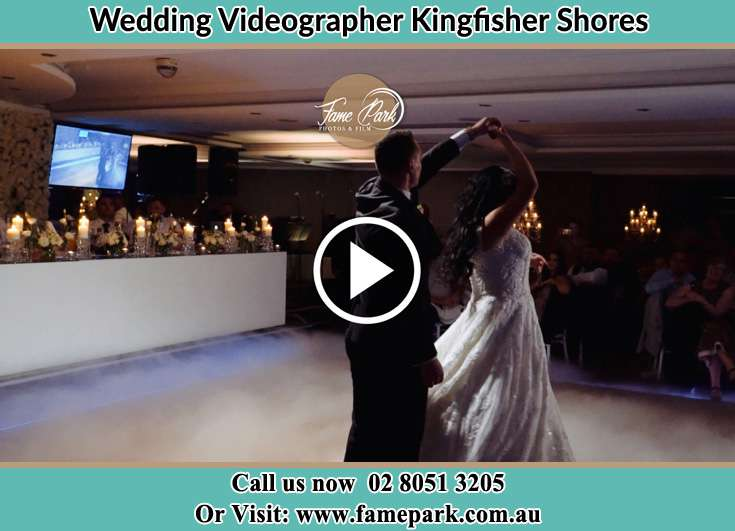 Bride and Groom at the dance floor Kingfisher Shores NSW 2259