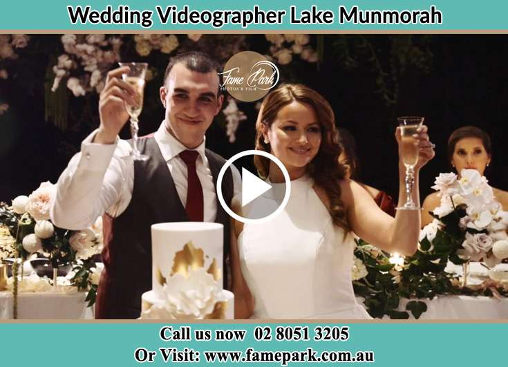Bride and Groom making a toast at the event Lake Munmorah NSW 2259