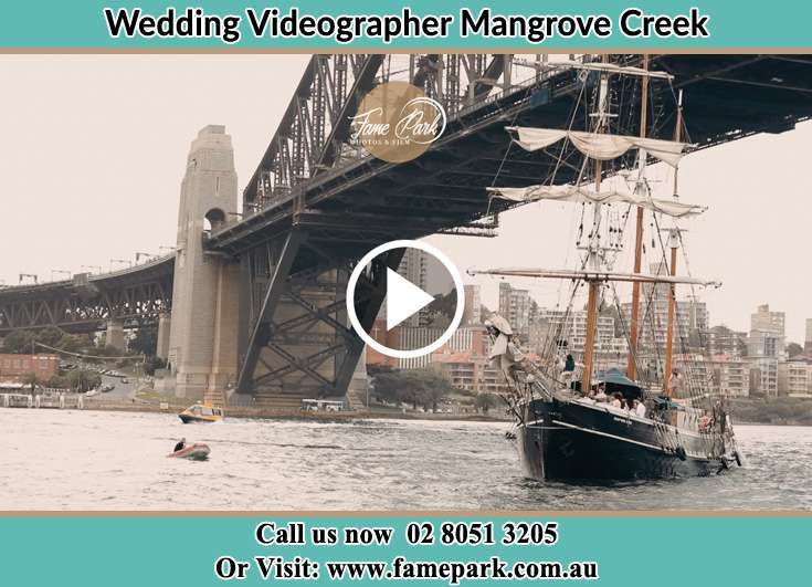 Bride and Groom boat ride Mangrove Creek NSW 2250