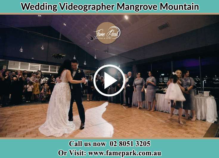 Bride and Groom at the dance floor Mangrove Mountain NSW 2250