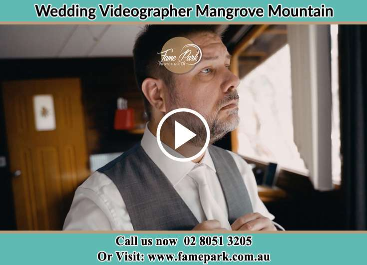 Groom preparing for the event Mangrove Mountain NSW 2250