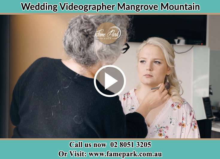 Bride getting her make up done Mangrove Mountain NSW 2250