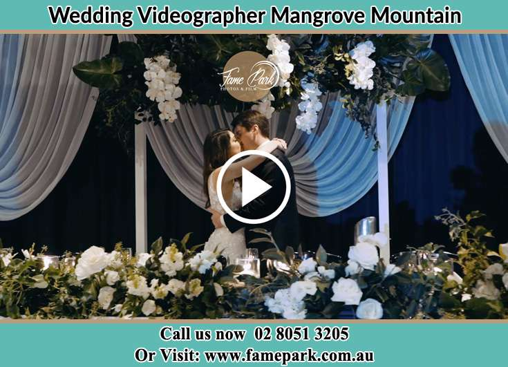Bride and Groom kissed at the reception Mangrove Mountain NSW 2250