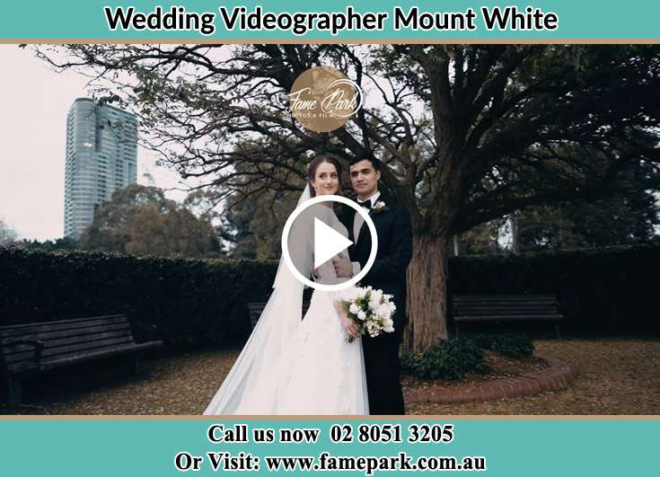 Bride and Groom at the park Mount White NSW 2250