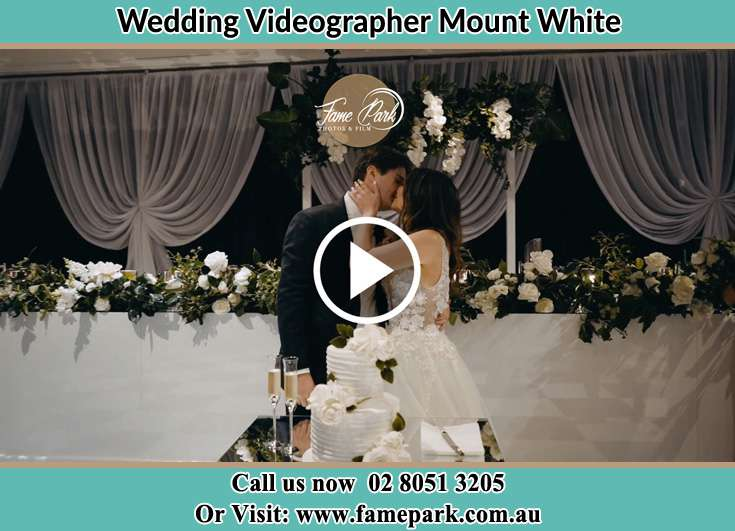 Bride and Groom kissed at the reception Mount White NSW 2250