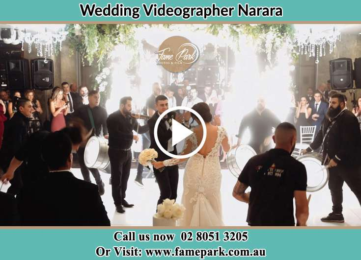 Bride and Groom at the dance floor sponsors Narara NSW 2104
