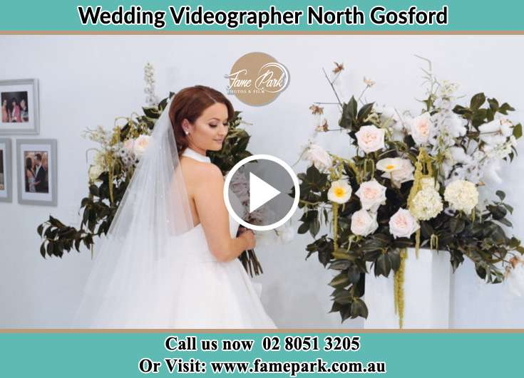 Bride already prepared holding a bouquet of flowers North Gosford NSW 2250