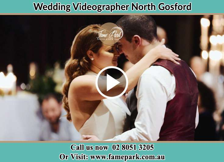 Bride and Groom looking at each other at the dance floor North Gosford NSW 2250