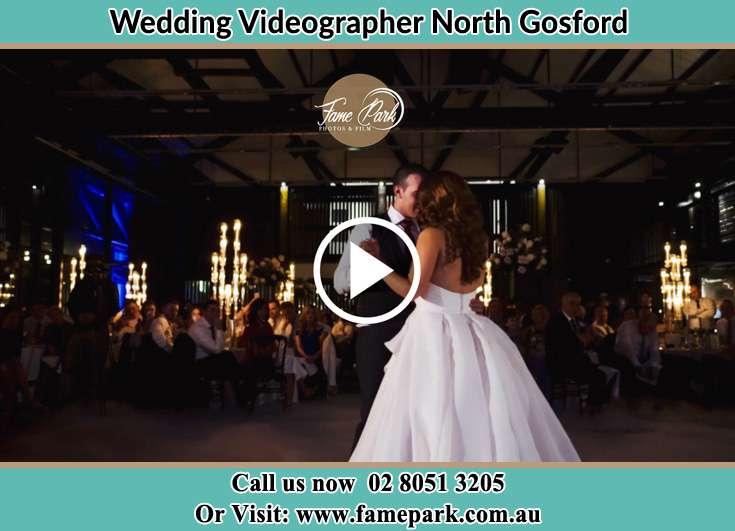 Bride and Groom looking at each other while dancing North Gosford NSW 2250