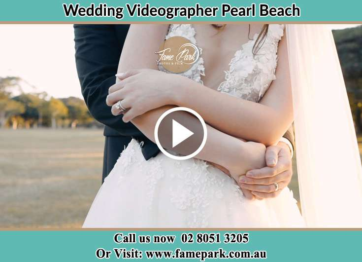 Bride and Groom hold each other Pearl Beach NSW 2256