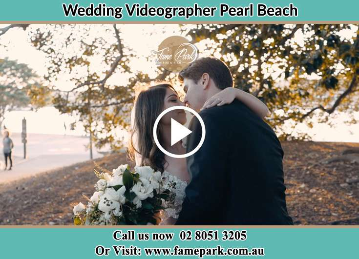 Bride and Groom looking each other at the park Pearl Beach NSW 2256