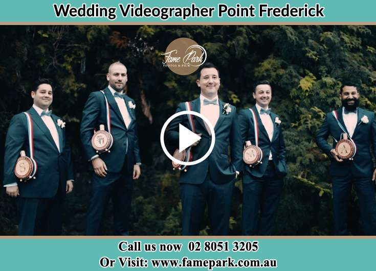 The Groom and his groomsmen posing for the camera Point Frederick NSW 2250