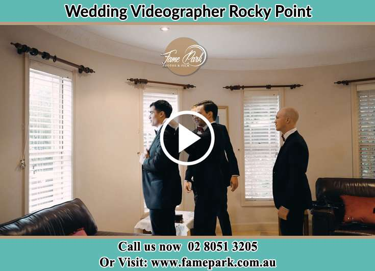 The Groom and his groomsmen are getting ready for the wedding Rocky Point NSW 2259