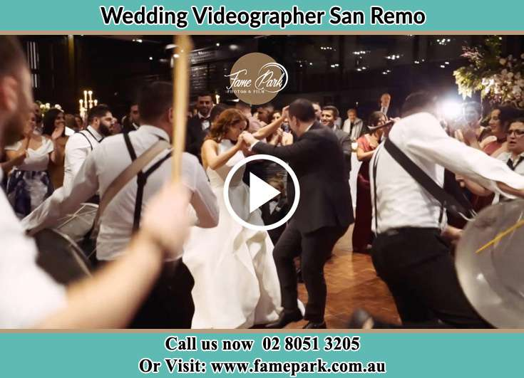 The new couple dancing on the dance floor with the band San Remo NSW 2262