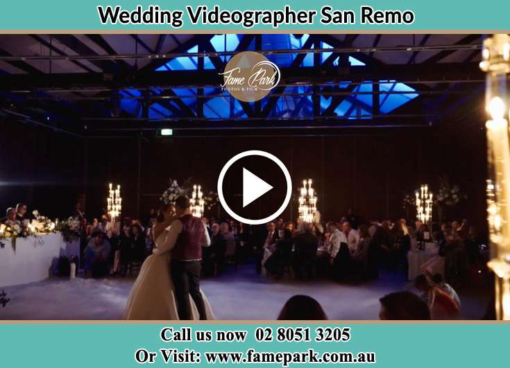 The newlyweds dancing on the dance floor San Remo NSW 2262