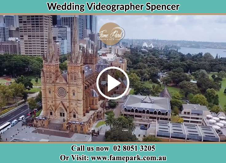 Bird's eye view of the wedding site Spencer NSW 2775