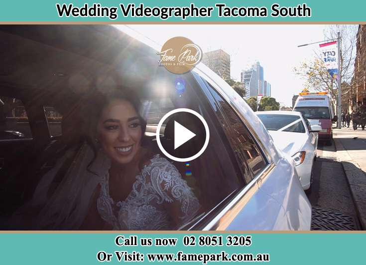 The Bride inside the wedding car Tacoma South NSW 2259