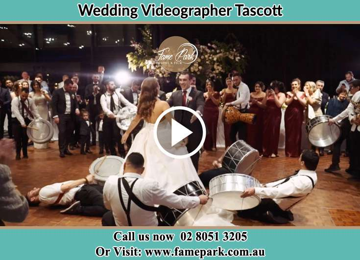 The new couple dancing on the dance floor with the band Tascott NSW 2250