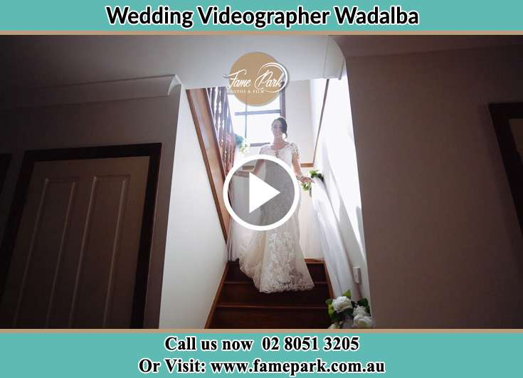 The Bride walking downstairs Wadalba NSW 2259