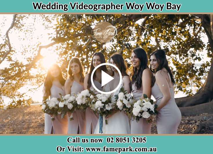 The Bride and her bridesmaids posing for the camera Woy Woy Bay NSW 2256